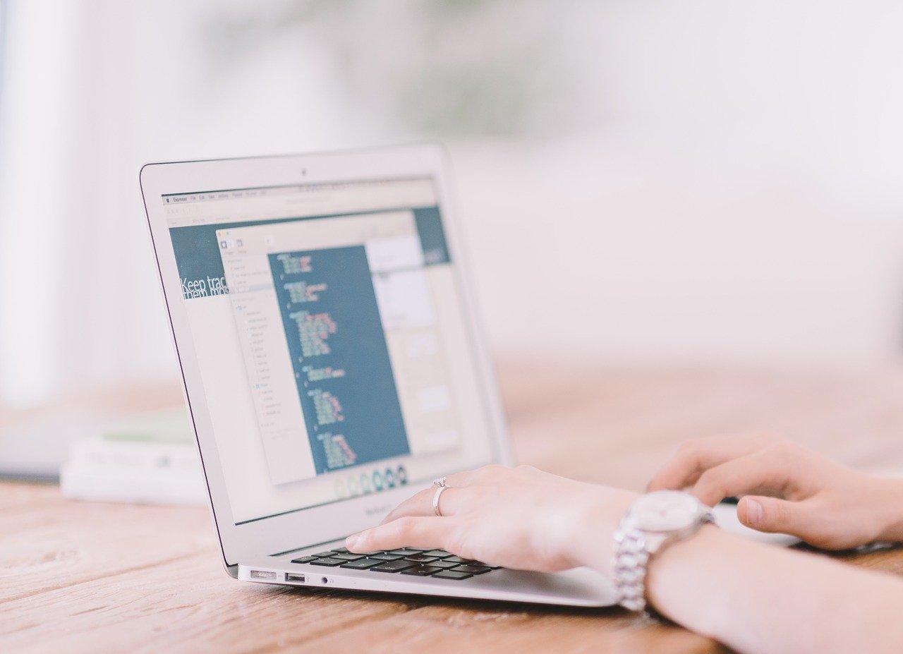 laptop, typing, internet