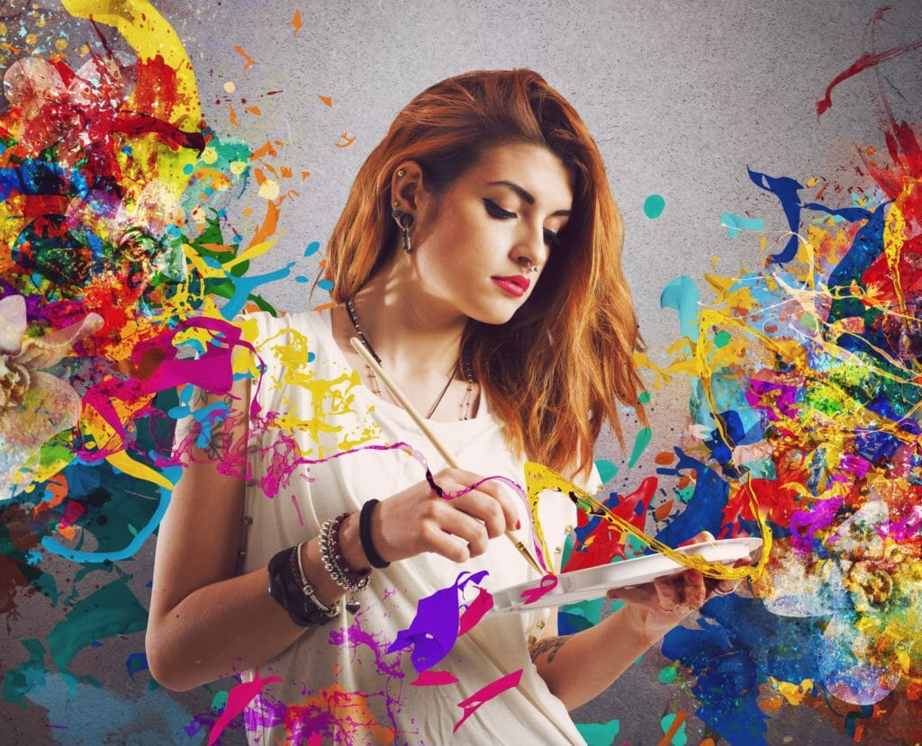 創造的な女性画家