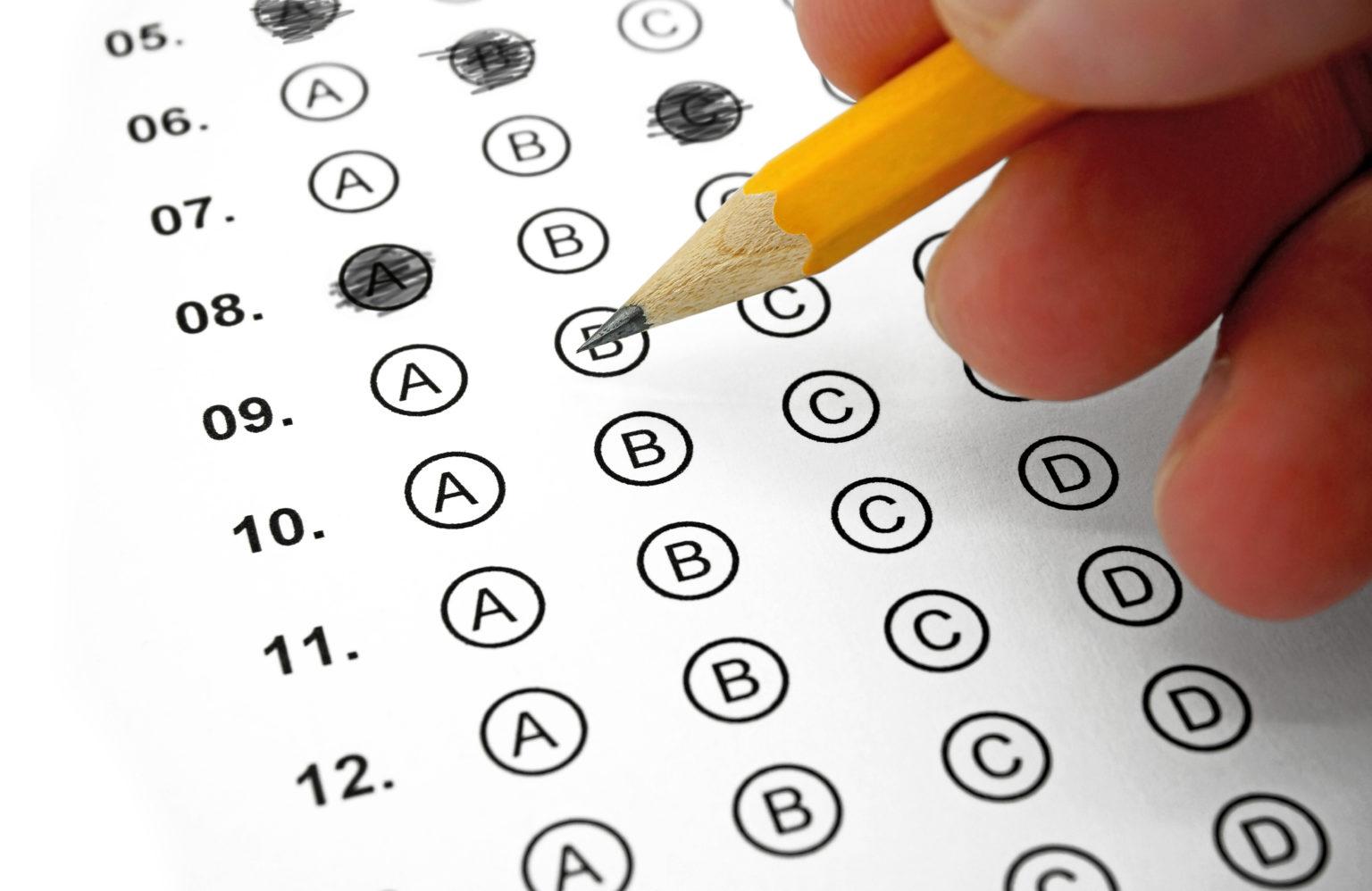 選択テストの正解を探す