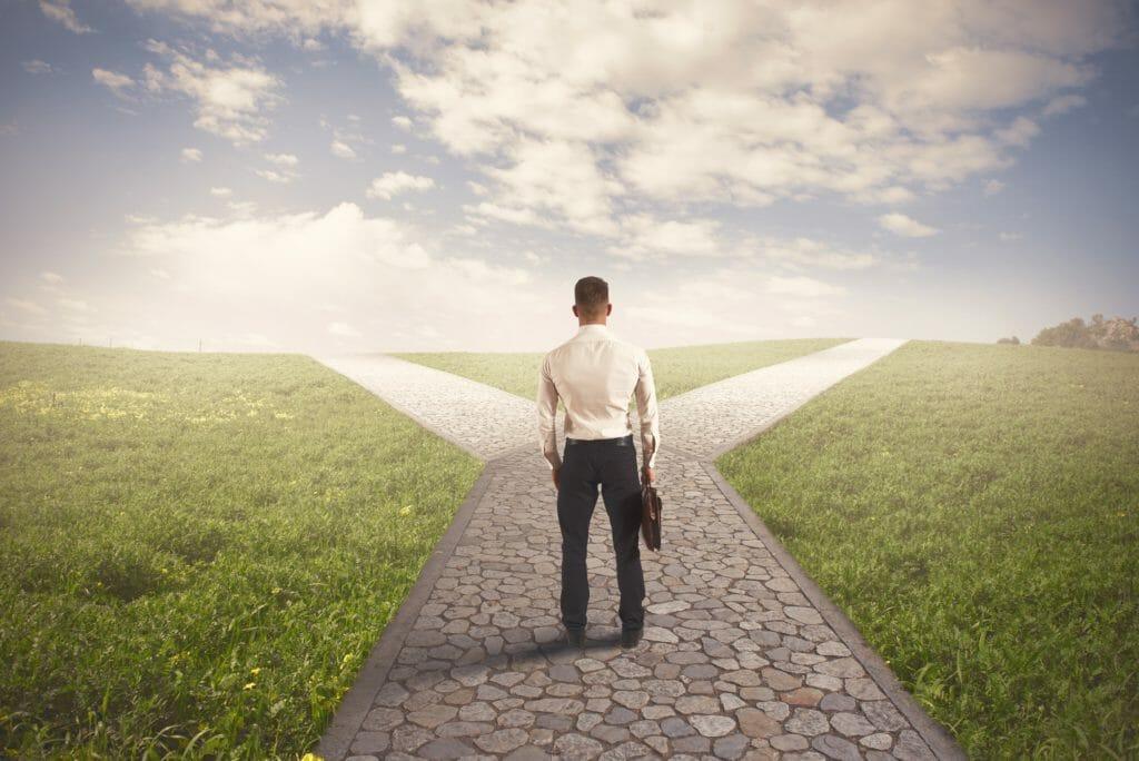 ビジネスマンの正しい方向