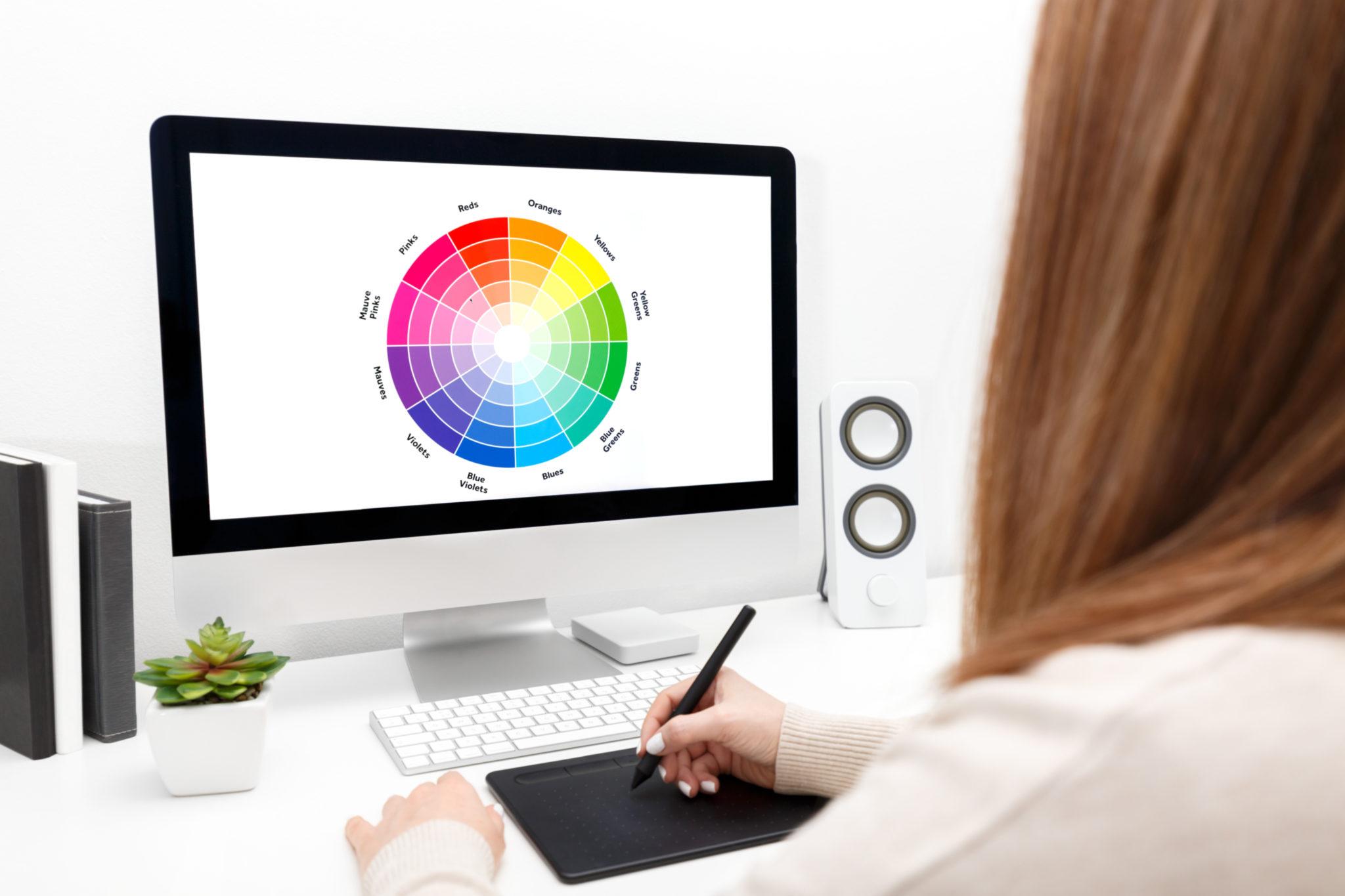 Young designer at work