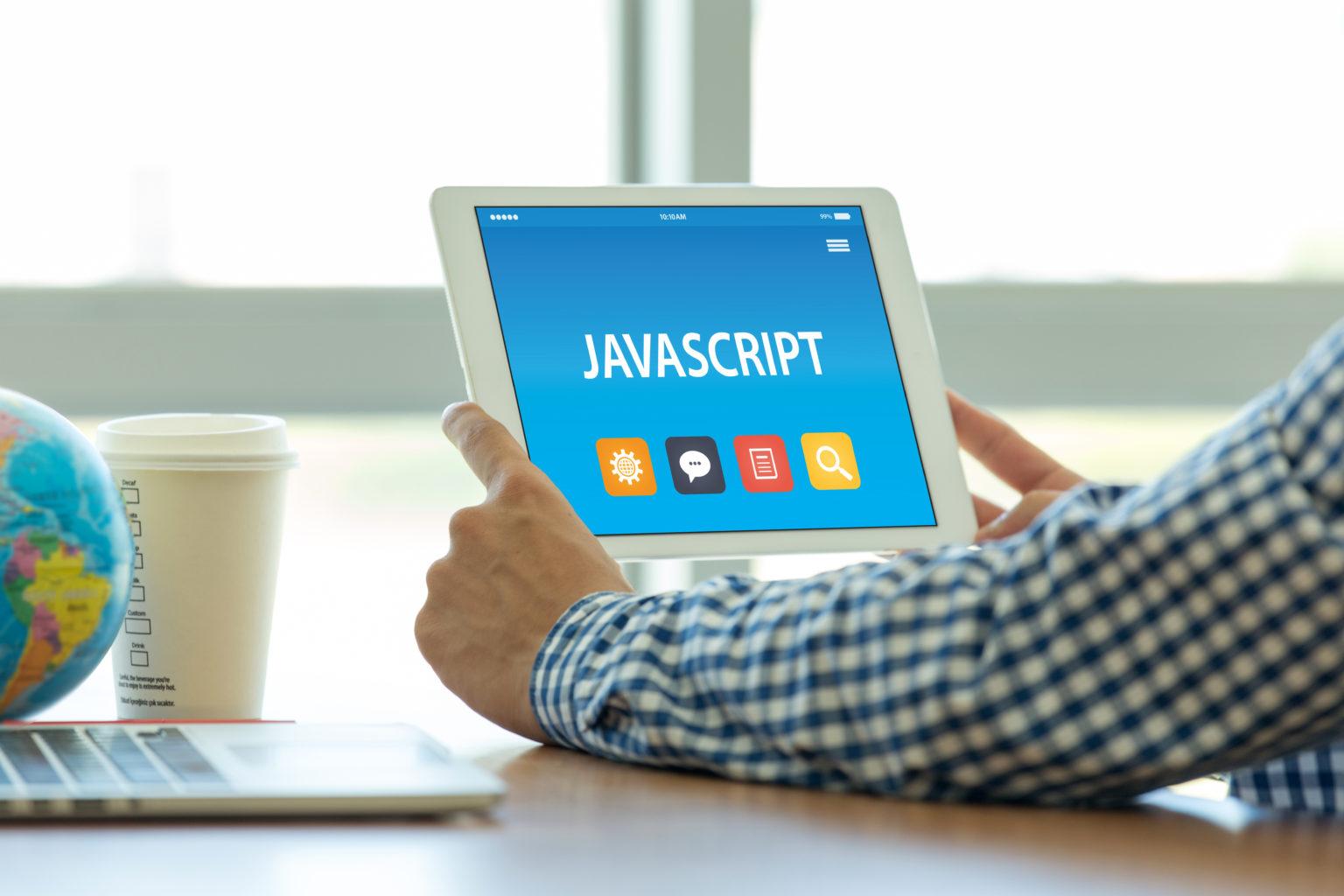 タブレット PC 画面上の JAVASCRIPT のコンセプト