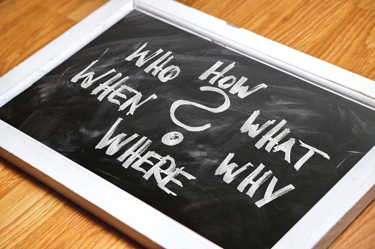 questions, board, blackboard