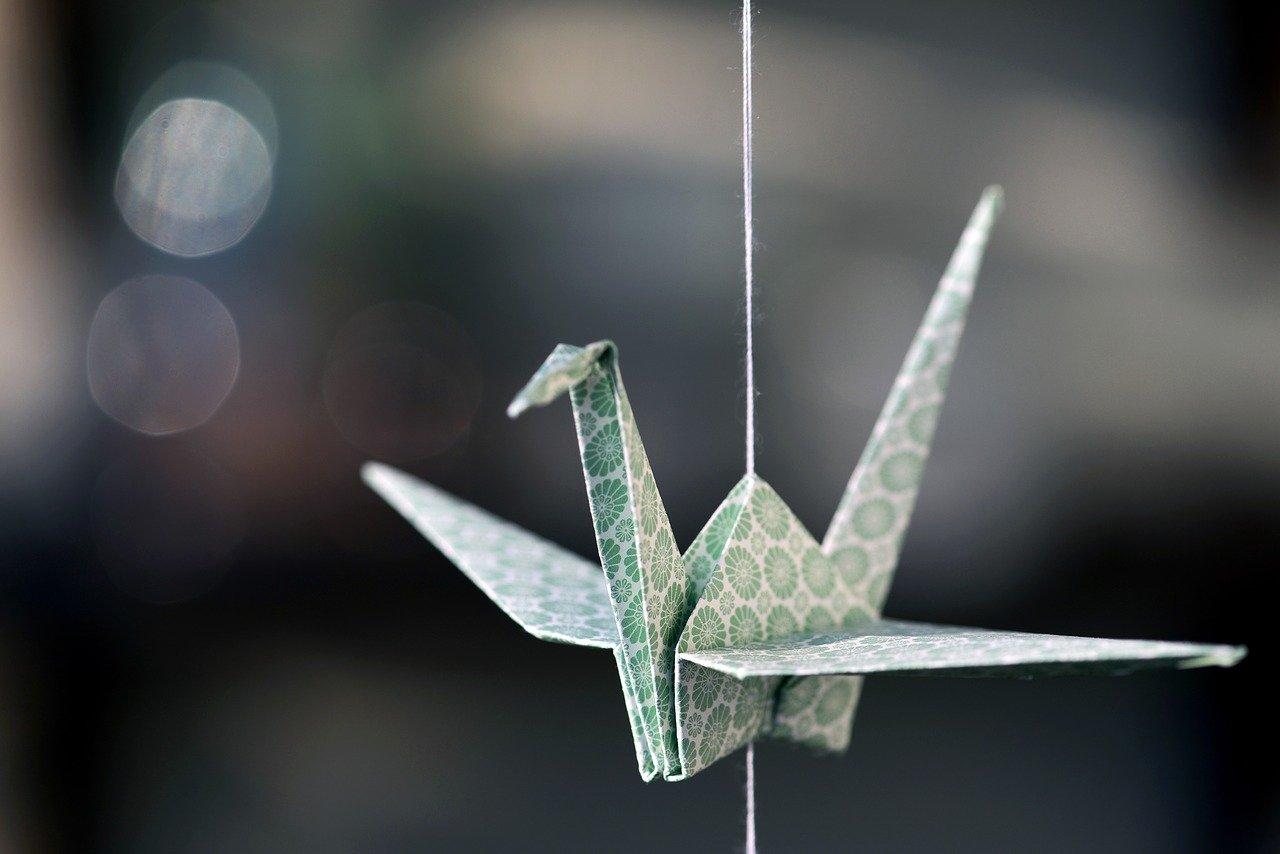 origami, crane, paper