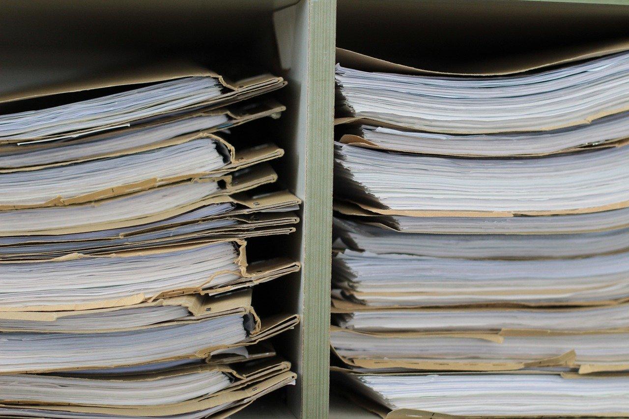 files, files shelf, paper