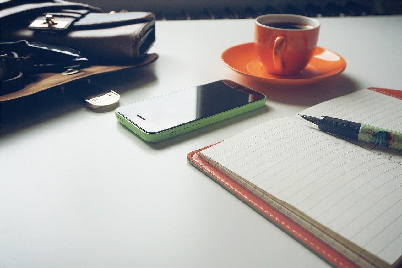 purse, wallet, coffee