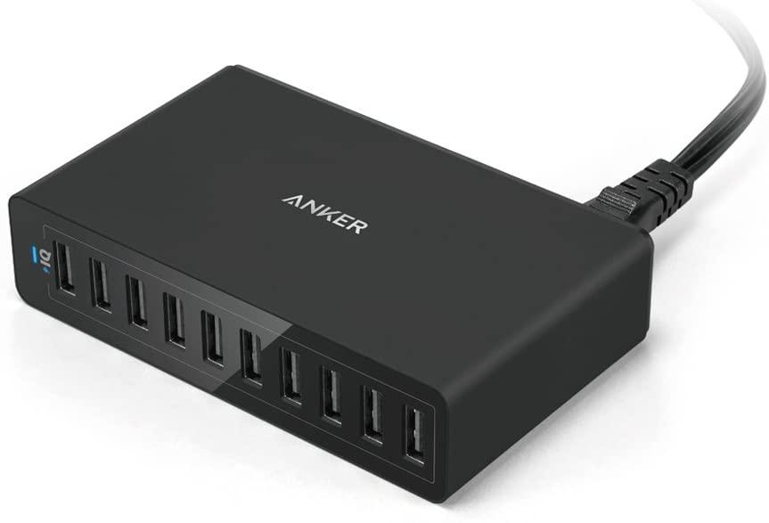 Anker PowerPort 10 (60W 10ポート USB急速充電器)