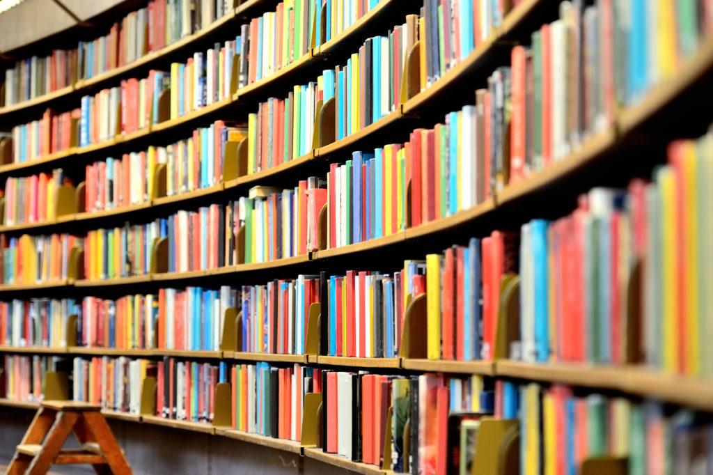 楕円状の本棚