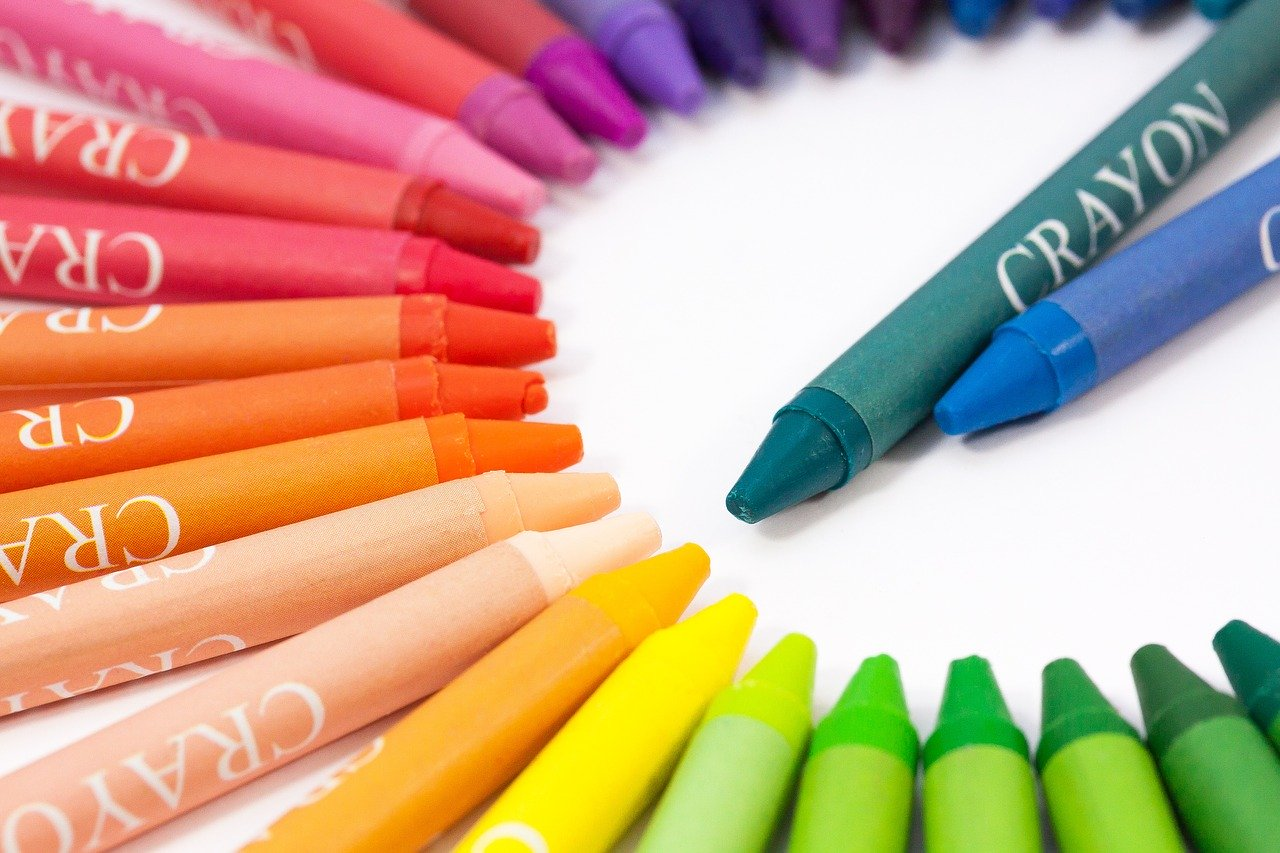 chalk, colored pencils, colour pencils