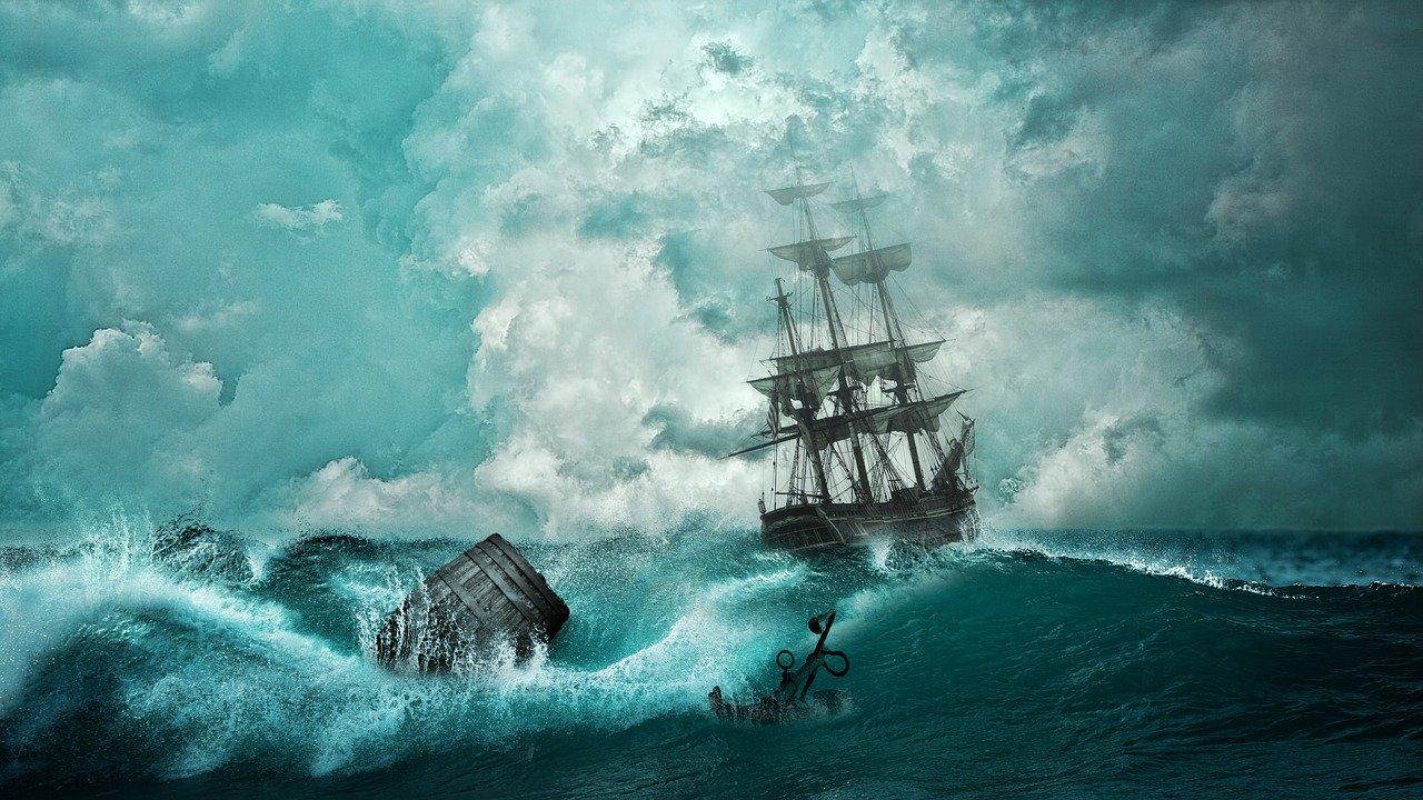 ship, shipwreck, adventure