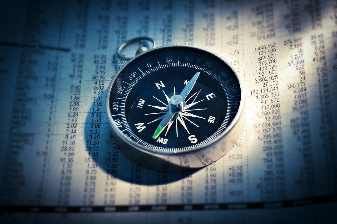 compass, newspaper, finance