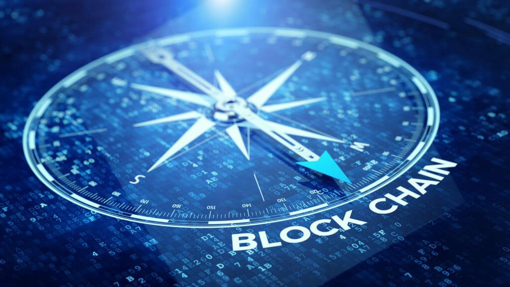 ブロックチェーンネットワークコンセプト