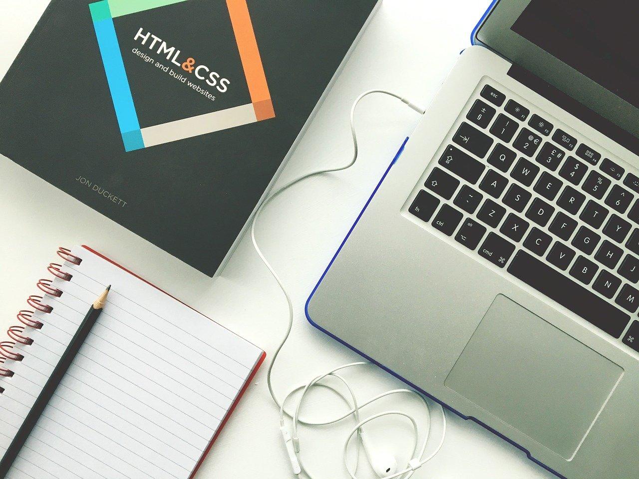 web design, laptop, html