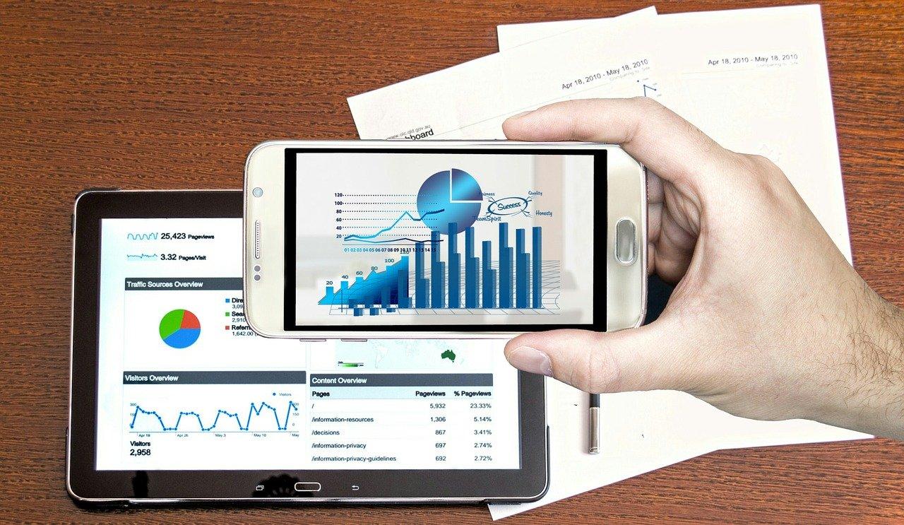 analysis, business, hand