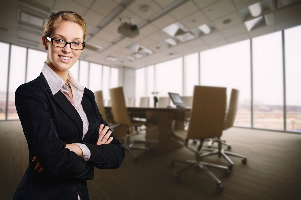 business, woman, office