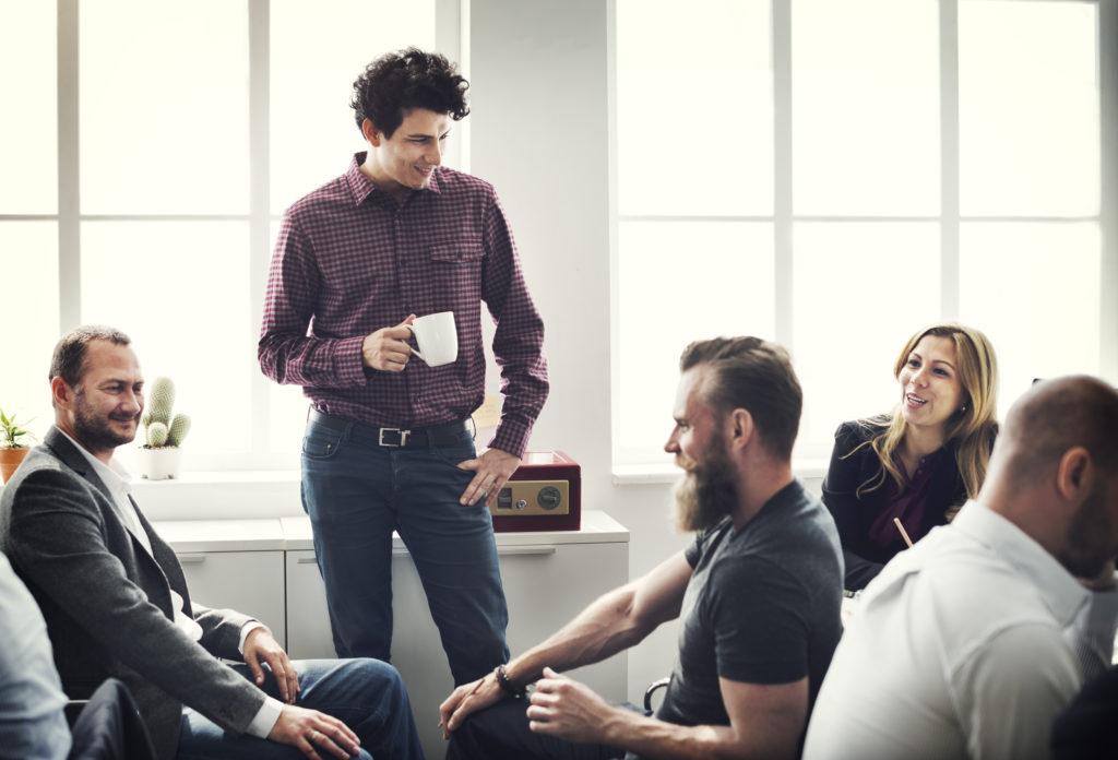 ビジネス チーム ディスカッション会議企業コンセプト