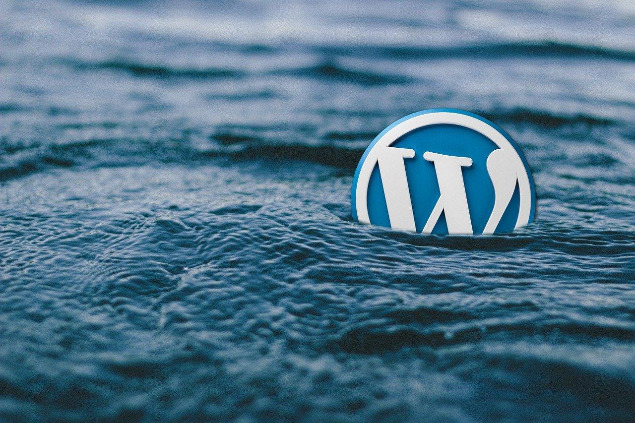 wordpress, water, logo