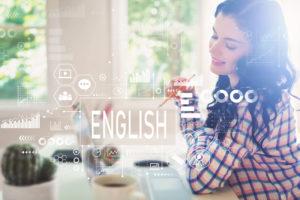 英語と若い女性