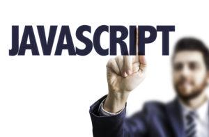 JavaScriptを指差す男性