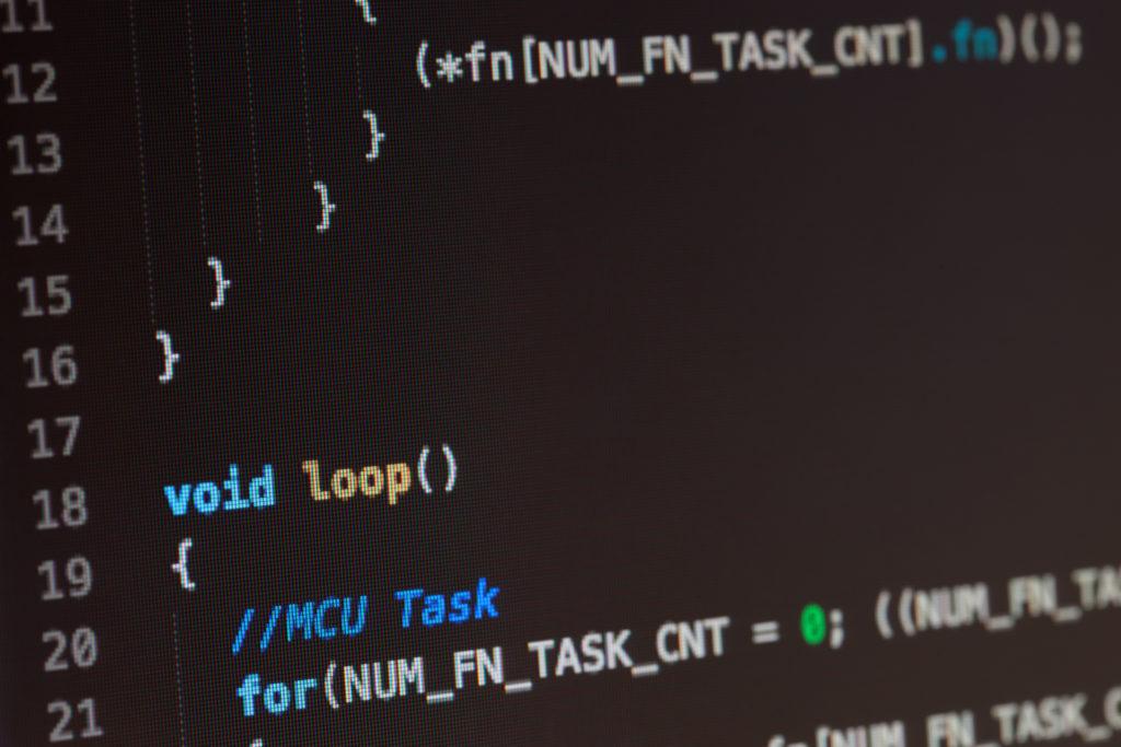 C コンピューター言語のソース コード