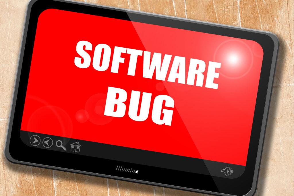 コンピューター上のソフトウェアバグの文字