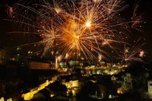 花火,ロケット,新年の日,大晦日