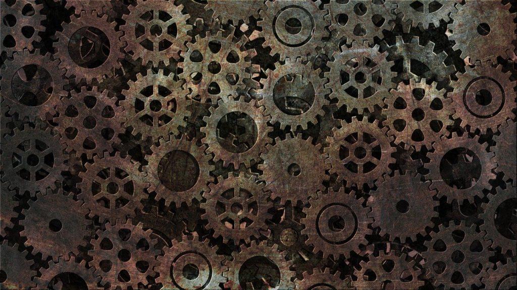 時計,はめ歯歯車,メカニズム