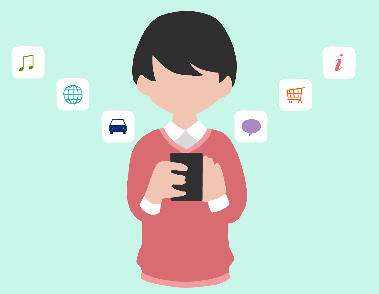 smartphone, app, japanese