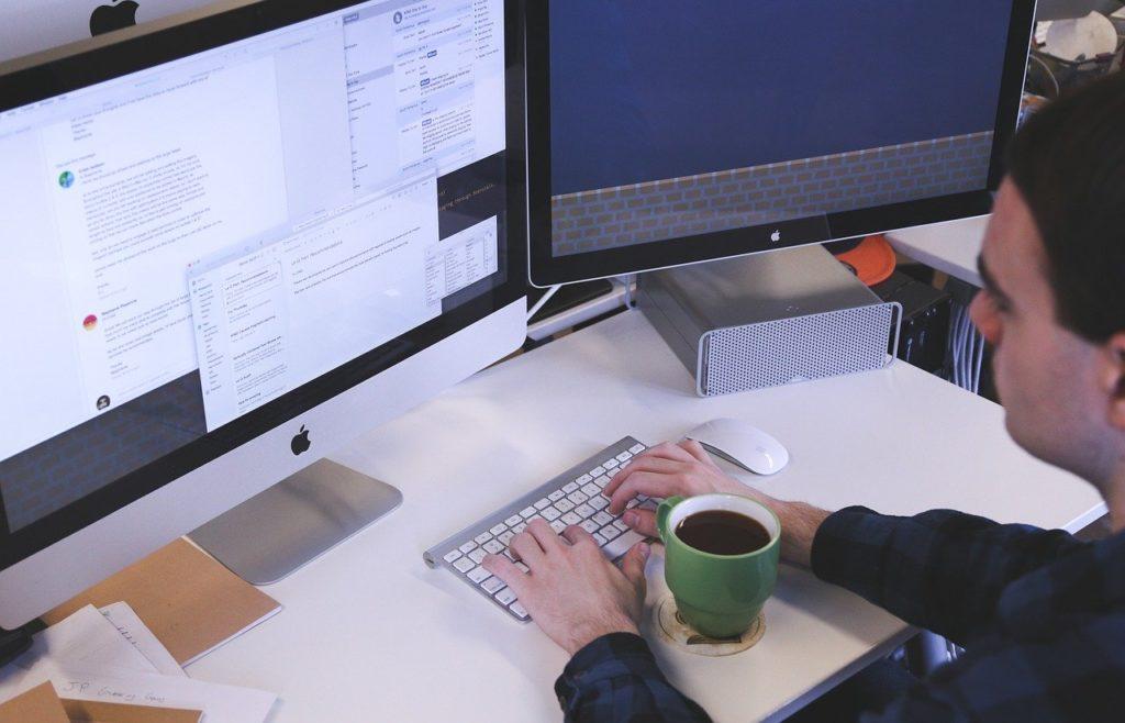 入力,コンピュータ,デスク,鍬オフィス