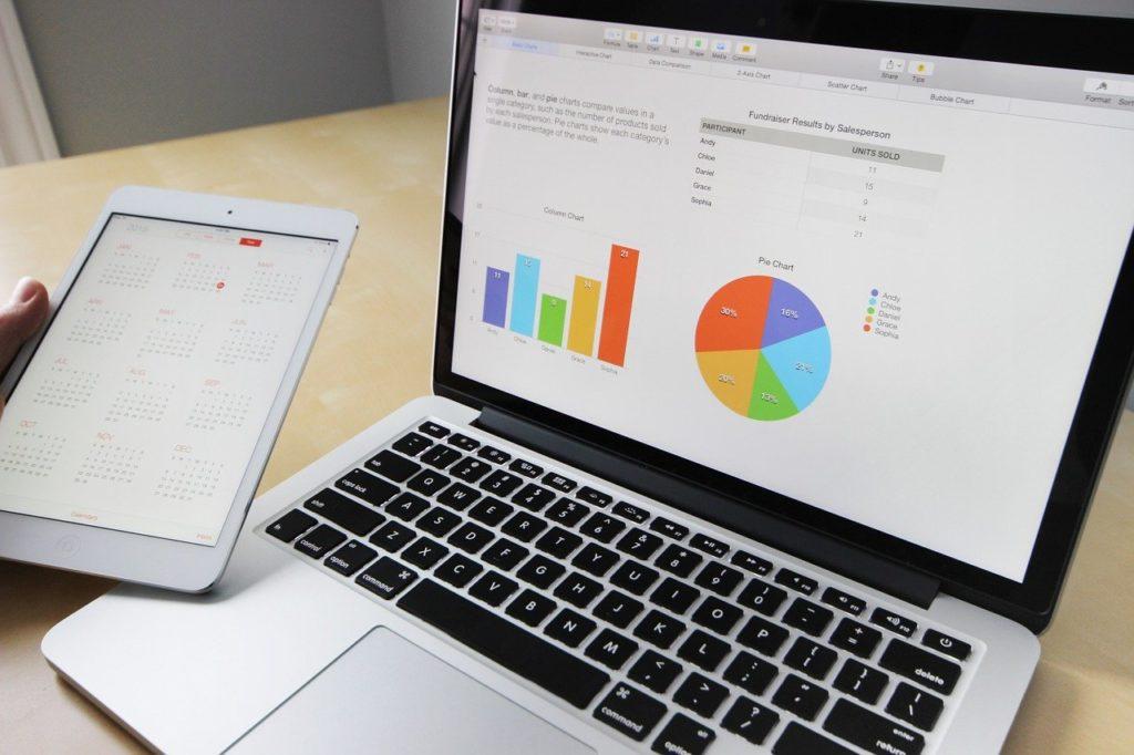 ビジネス,作業,ラップトップ,macbook,計算されました
