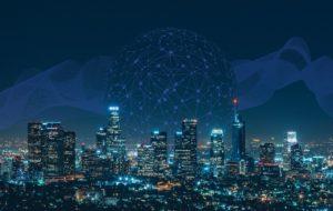 ネットワーク,ビル,夜景