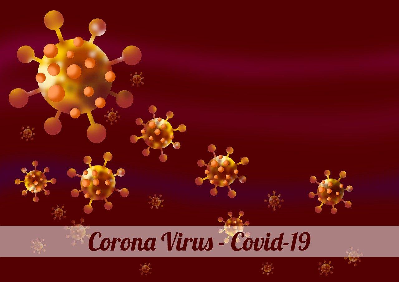 illustration, background, virus