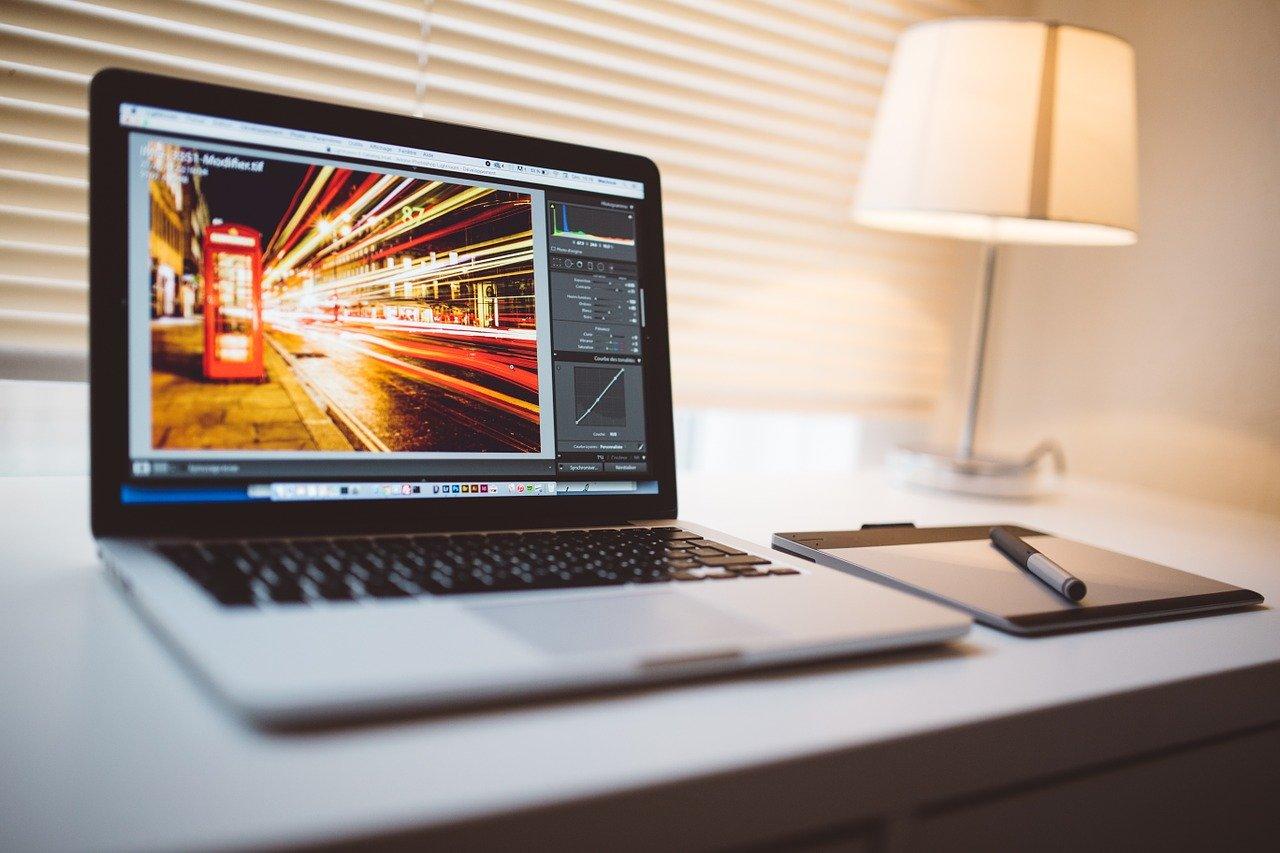 computer, macbook, tablet