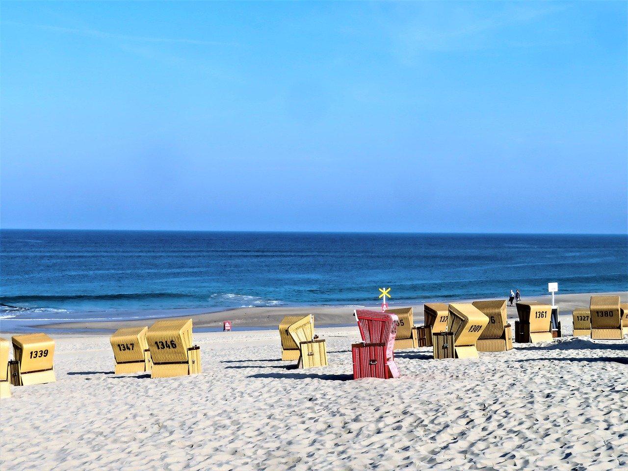 sea, beach, north sea