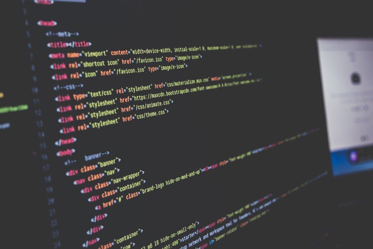 computer, computer code, screen