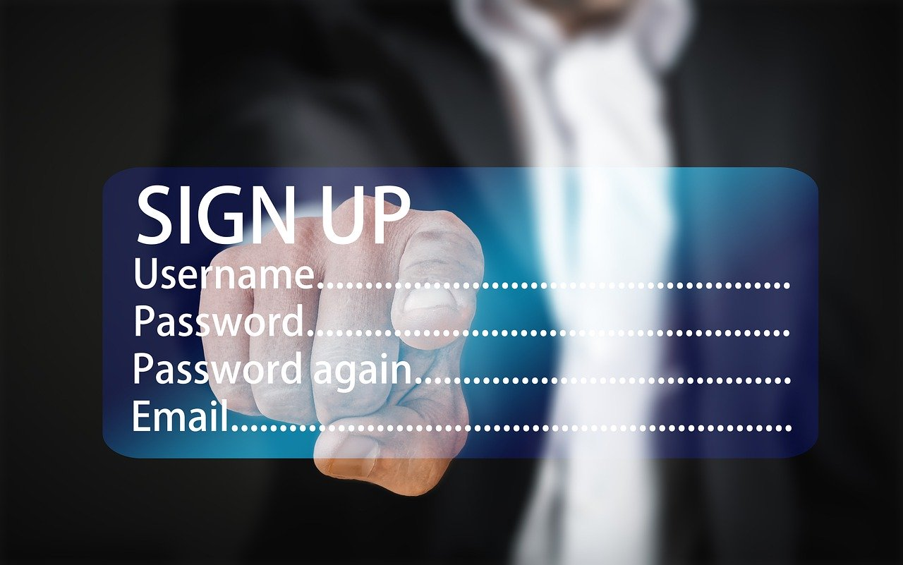 registration, password, try again